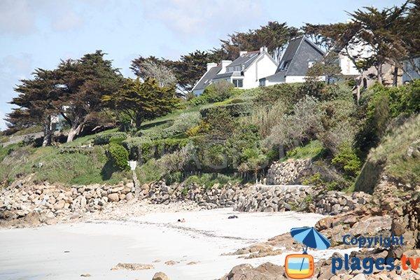 Criques autour de la plage de Korn ar Gazel à Saint Pabu