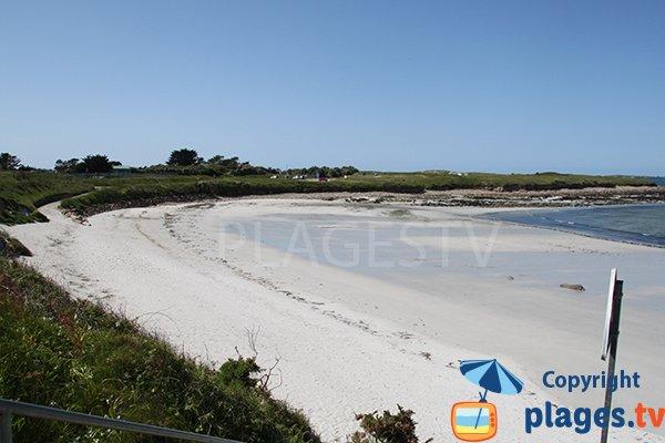 Photo de la plage de Korn ar Gazel à Saint Pabu en Bretagne