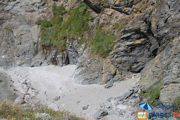 Cove deserted at Belle Ile en Mer