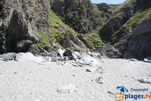 Gray sand cove in Belle Ile en Mer