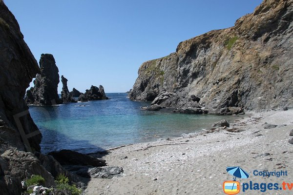 Photo of Kouar Huédé beach in Belle Ile en Mer - France