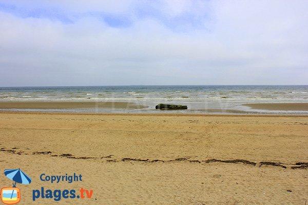Plage de St Martin de Varreville en Normandie