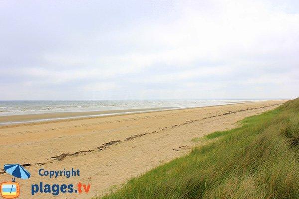 Photo de la plage de Saint Martin de Varreville en Normandie