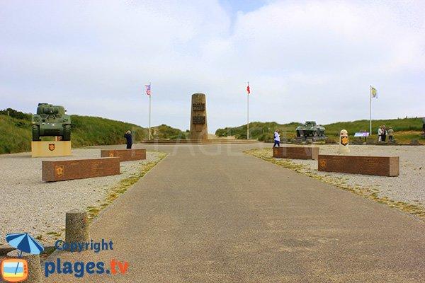 Mémorial du débarquement à St Martin de Varreville en Normandie
