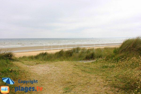 Photo de la plage de Koufra à St Martin de Varreville en Normandie