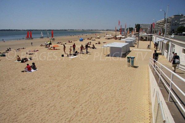 Sand beach in La Baule - France