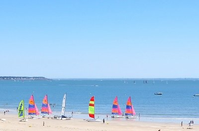 La Baule beach in France