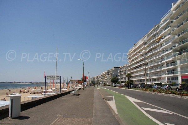 Beach in the city center of La Baule