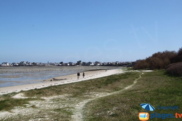 Beach of Laber in Roscoff in Brittany
