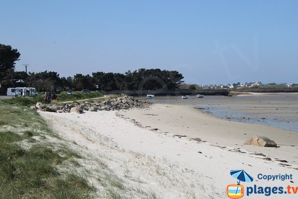 Dune of Laber beach in Roscoff
