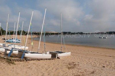 Beach of Soustons Lake