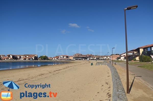 Promenade piétonne le long de la plage de Vieux Boucau