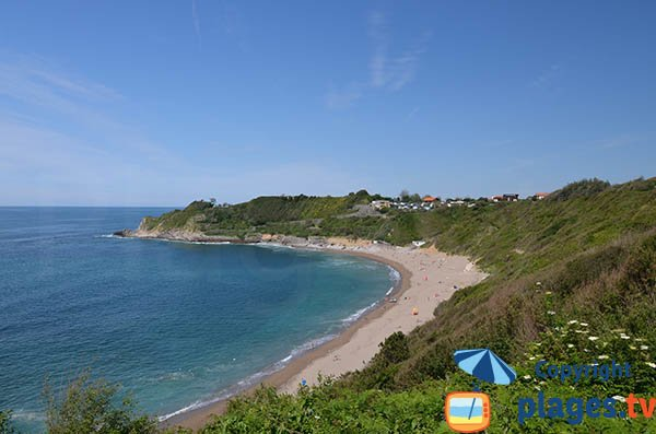 Photo of Lafitenia beach in Saint Jean de Luz in France