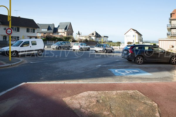 Parking de la plage Laforge - Blonville (Calvados)