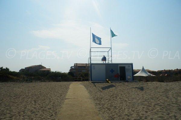 Poste de secours de la plage de la Lagune St Cyprien