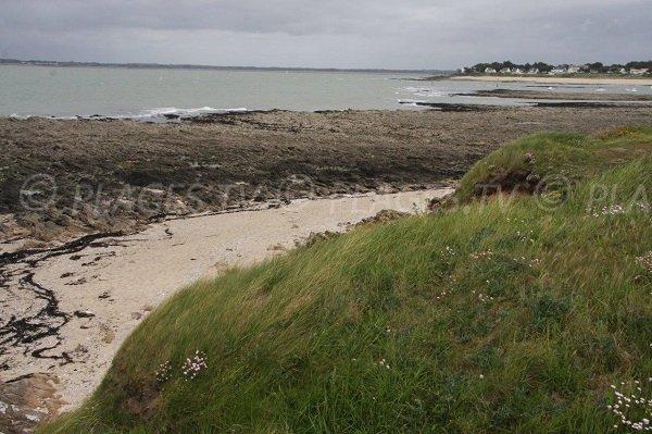 View on Mesquer beach from Croix point - Piriac