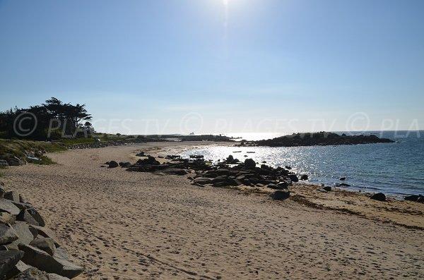 Photo de la plage de Landrellec dans les côtes d'Armor
