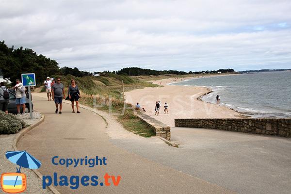 Cale sur la plage de Landrezac - Damgan