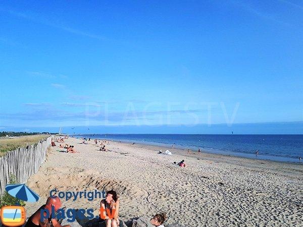 Photo de la plage de Landrezac à Sarzeau en été