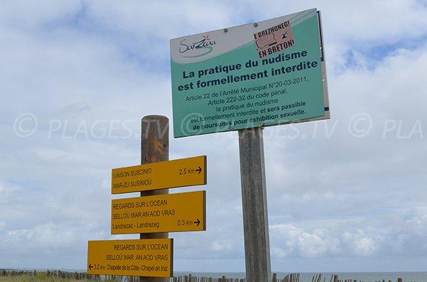 Naturisme interdit sur la plage de Landrezac
