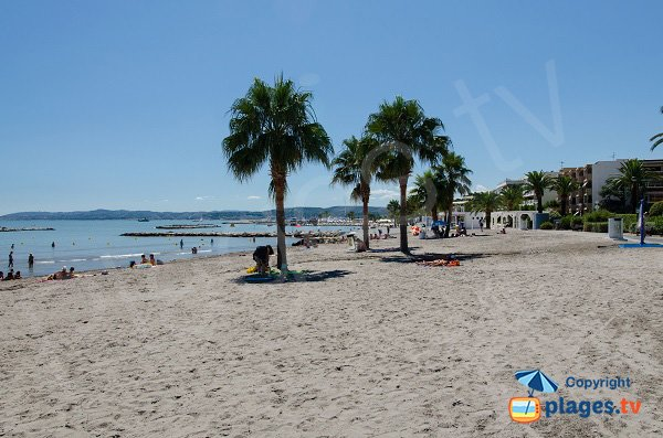 Spiaggia di sabbia di St Laurent du Var