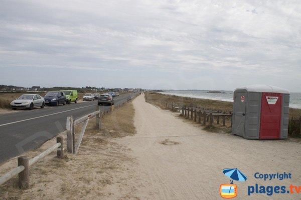 Parking of Lanénec beach in Guidel