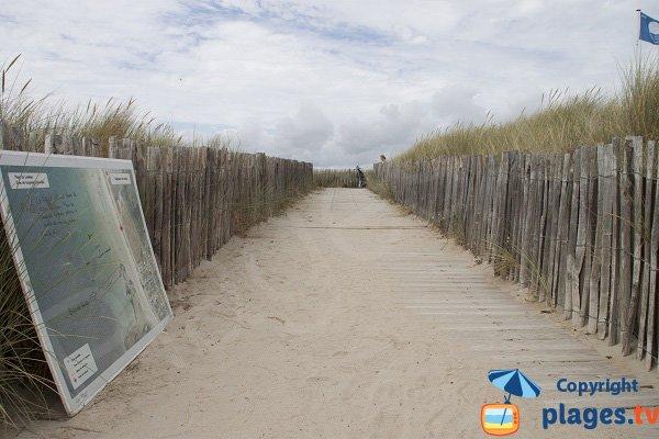Accès à la plage de Lanénec - Guidel