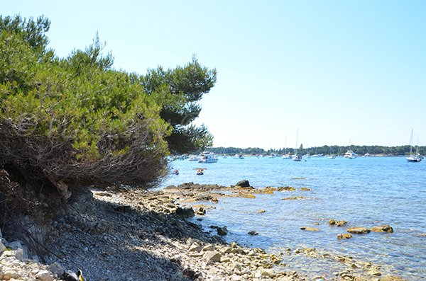 Shade on Laoute beach - Lerins beach
