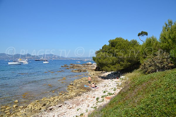 Laoute beach - Lerins island in Cannes