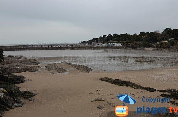 Foto della spiaggia del Lapinou a Pornic - Francia
