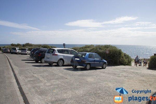 Parking gratuit de la plage du Large à Concarneau