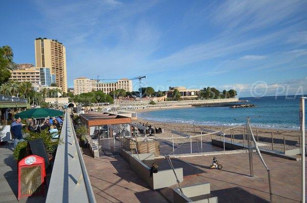 Plages privées à Monaco et restaurants