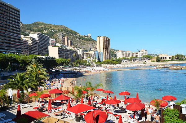 Restaurant on the Monaco beach