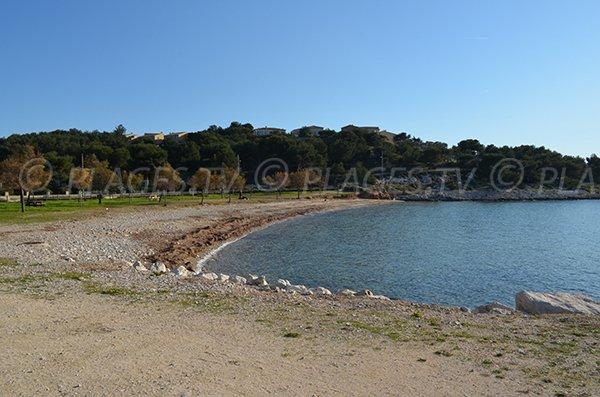 Spiaggia dei Laurons a Martigues - Francia