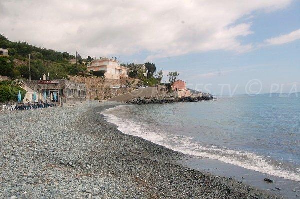 Plage de Lavasina à Brando au Cap Corse
