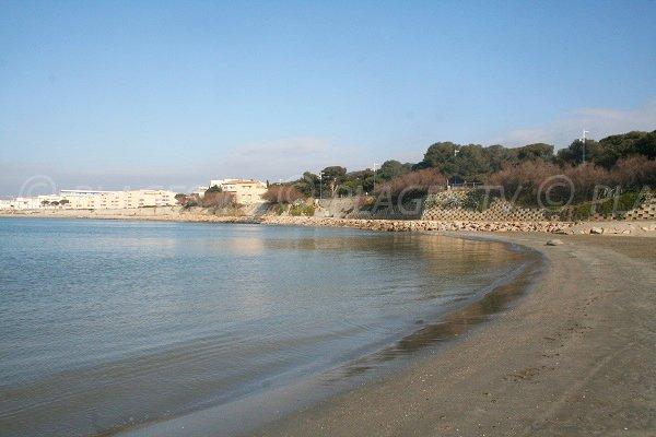 Plage du Lazaret sur la Corniche de Sète