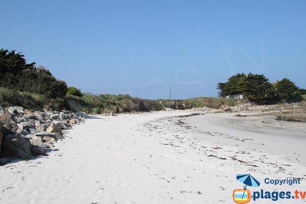 Confidential beach in Santec - Le Billou