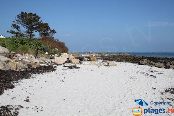 Rochers autour de la plage du Prat de Santec