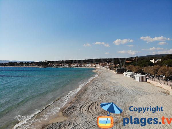 Photo de la plage du centre de Saint Cyr sur Mer