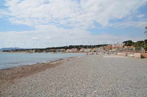 Central part of Lecques beach in Saint Cyr sur Mer