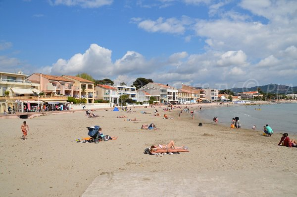 Lecques beach in St Cyr sur Mer in France