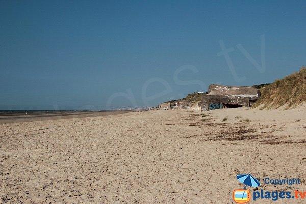 Spiaggia e batteria di Leffrinckoucke