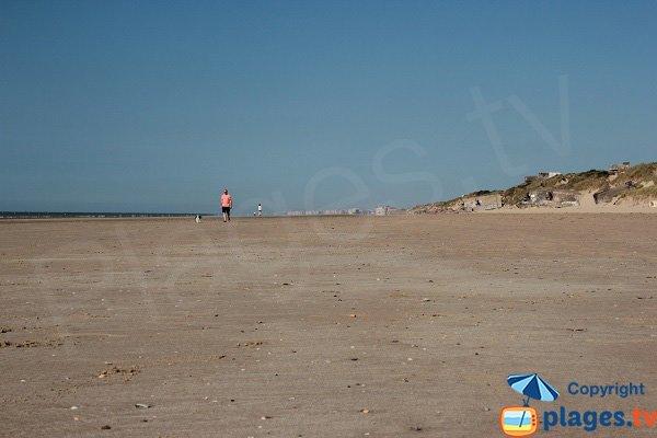 Spiaggia di Leffrinckoucke affaccia Belgio