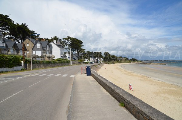 Parking of Légenèse beach in Carnac