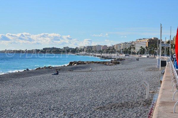 Spiaggia Lenval a Nizza - inverno