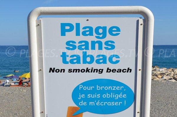Plage non fumeur à Nice - Lenval