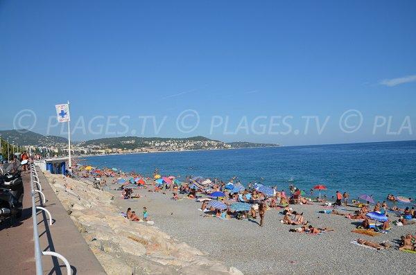 Spiaggia Lenval e posto di soccorso - Nizza