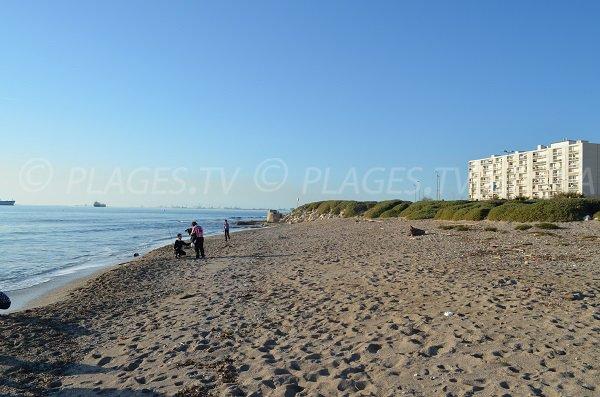 Vista generale della spiaggia di Port de Bouc - Lèque