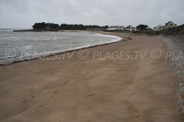 Grande plage de sable à Piriac sur Mer