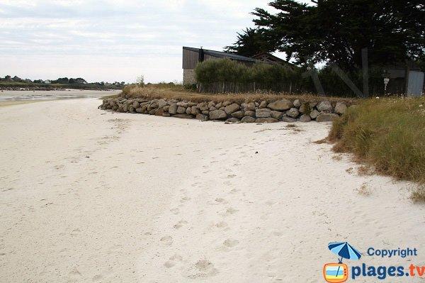 Photo de la plage dans le fond de l'estuaire de Kerlouan